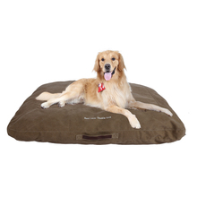 New designs polyester filling taupe washable dog beds for wholesale