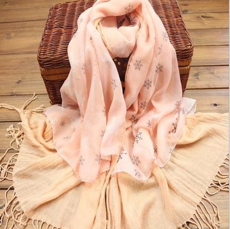 Fashion snow pattern ladies scarf lovely matching cashmere women scarves