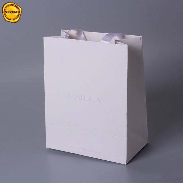 Sun Nature cosmetic packaging ribbon handle paper shopping bag