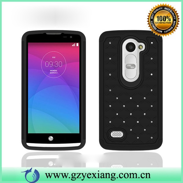 For LG Leon cell phone case ,diamond combo case for LG Leon