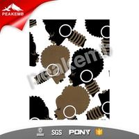 Afro Lady Heat Transfer Pu Iron on for Custom Women Tshirt Wholesale