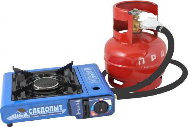 "Infrared portable gas stove ""ULTRA"", ceramic burner, piezo ignition and 2 types gas cartriges and LPG PF-GST-IM01"