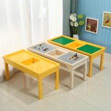 Preschool kids game lego table for building blocks