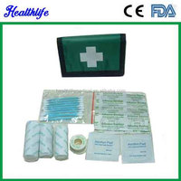 Good supplies in producing camping pocket Folding first aid kit CE FDA GOOD GIFT