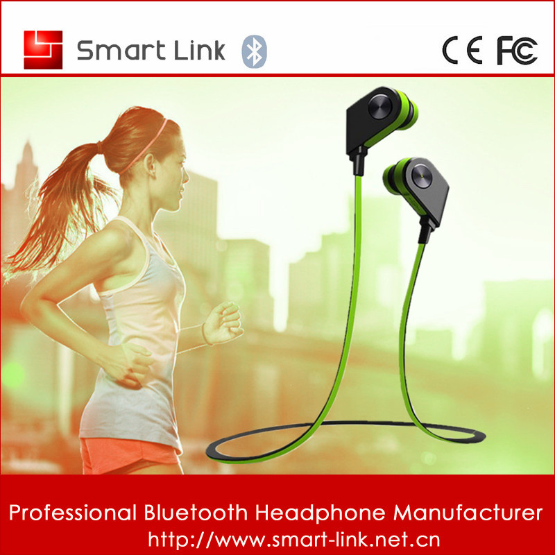 Magnetic Smart Control Mini Sport Bluetooth Stereo Headset For All Phones