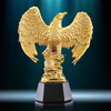 Resin replica golden eagle statue