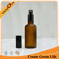 Amber Glass Nasal Spray Bottle With Pump Hot Sale
