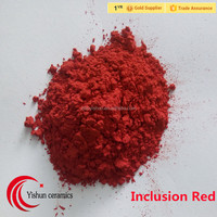 Inclusion Red pigments for porcelain