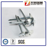 Galvanised/Zinc Plated Umbrella Roofing Nails with Rubber Washer