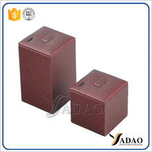 Wholesale China custom handmade jewellery exhibitor holder for exhibitions red leather earring jewelry display