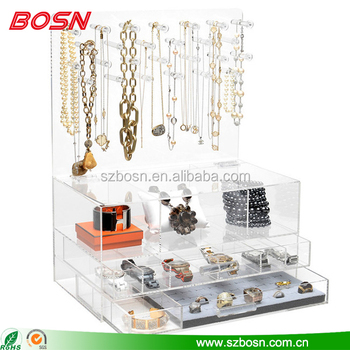 Professional manufacture plastic hanging jewelry organizer