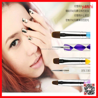 YASHI 2 way White Nail Art Brush Set/Nail Dotting Pen/Nail Art Manicure Tool