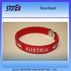 Austria silicone bracelet cheapest debossed silicone wristbands