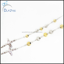stainless steel crystal beads rosary for man