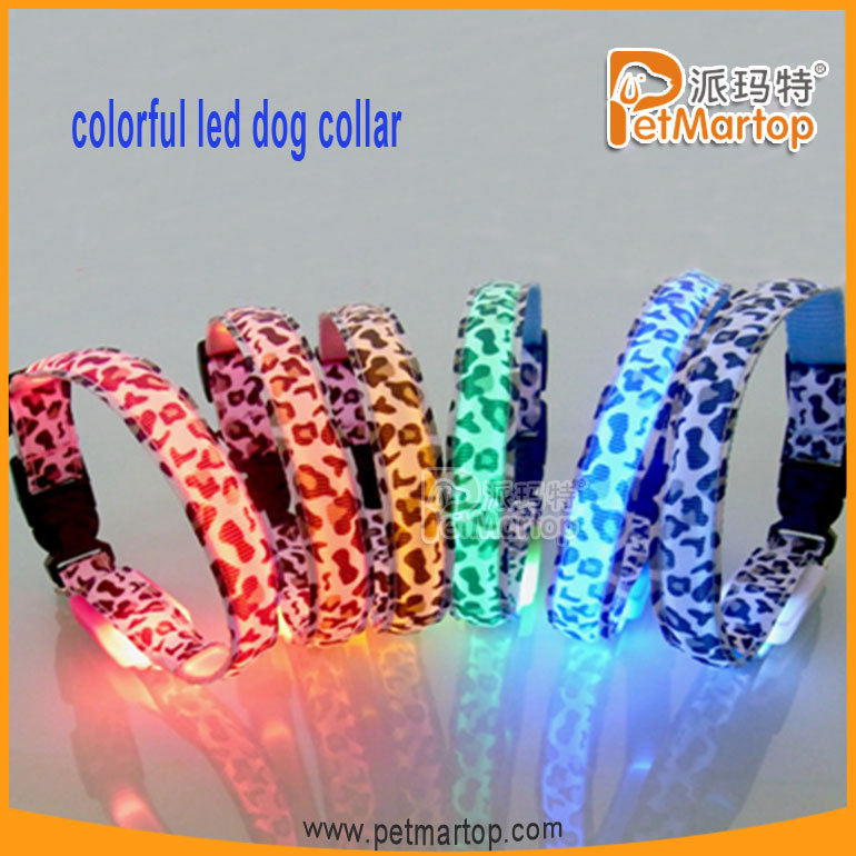 2016 Hot Selling LED Glowing Pet Puppy Charms and Joys Collar