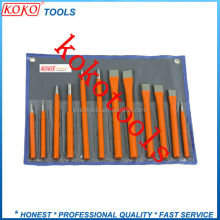 professional flat and sharp head hexagonal metal steel masonry tools cold stone chisels sets