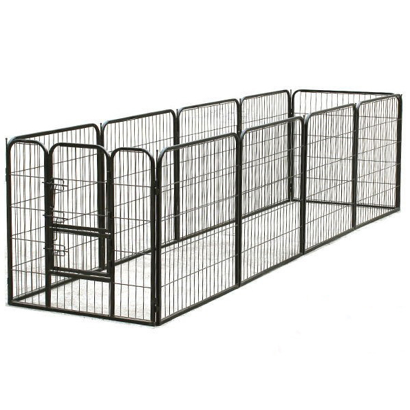 Ten panels large space square metal iron pet play pen dog cage