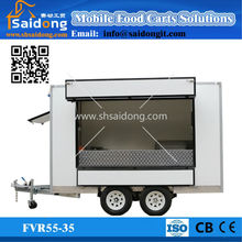 Mobile coffee ice cream carts concession /hot dog van concession vans/mobile food kiosks with wheels