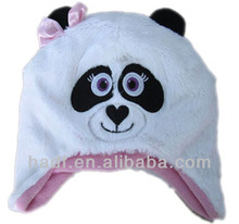 kids soft fleece hat with animal design