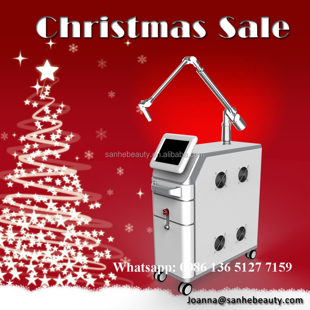 Christmas Promotion High Quality Q-switch Nd Yag Laser Tattoo Removal and Skin Tanning Beauty Equipment