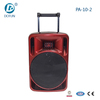 Dotun professional wholesale fashion 10 inch big power trolley battery speaker