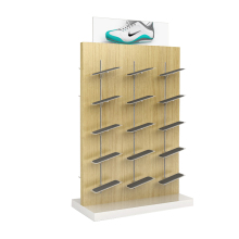 Fitting Shoe Display Shelf Wooden Sports Shoe Display Stand