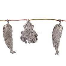 Home Sparkle Leaf & Ganesha Door Hanging & Wall Hanging from India