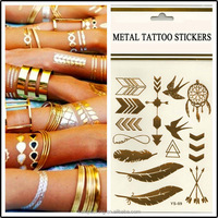 Customized Gold Silver Foil Tattoo Fake