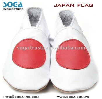 japan country flag fashion baby shoes .