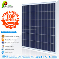 Powerwell Solar 105w 12v polycrystalline silicon solar panel good price with CEC/IEC/TUV/ISO/INMETR certifications
