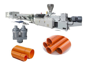 Pvc double pipe extrusion production line pvc double pipe