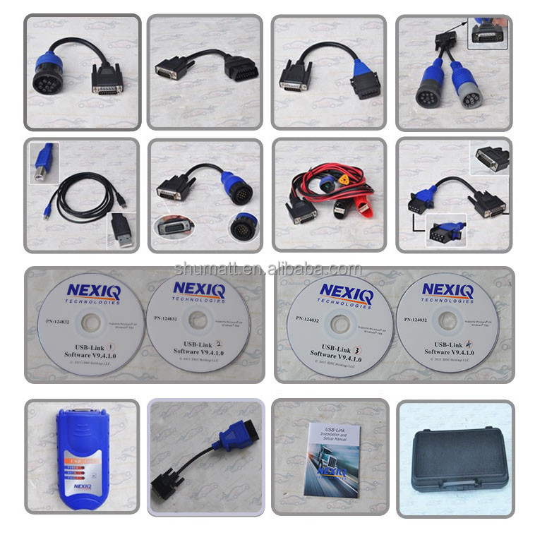 Diesel Trucks Diagnostic scan tool Nexiq scanner NEXIQ 125032 USB Link auto scan tool with full set Software and cables