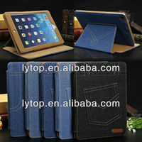 Fashion Casual Jeans Bumper Felt Leather Case for iPad Air 5