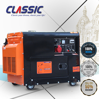 CLASSIC CHINA 7kw Sound Proof Diesel Generators Silent Type In Australia, Key Start 7.5kva Silent Diesel Generator