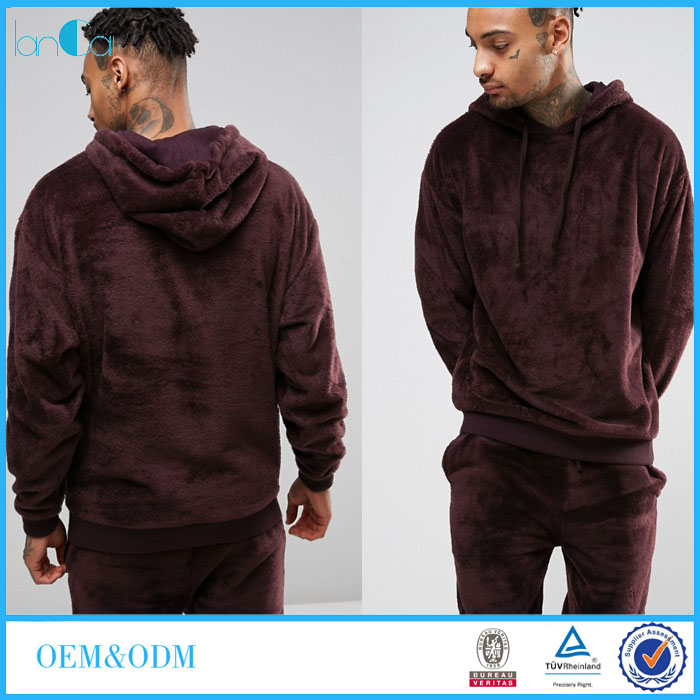 2017 Brand New Oversized Men's Hoodie Wholesale Sweat Suits with Fitted Trims LC6001-G