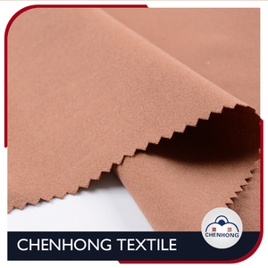 PVE polyester viscose elastane double face brush fabric for coat