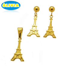 Olivia 18k Gold Stainless Steel Jewelry New Design Of Cheap Jewelry Set Design