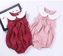 P0025 Cute Doll Collar newborn baby clothes romper for sale