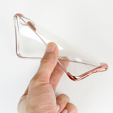 Electroplating Transparent TPU soft Phone Case for iPhone x