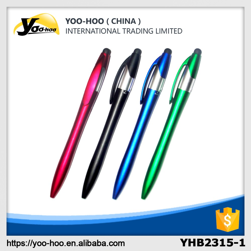 Plastic stylus touch ball pen