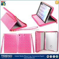 wallet zipper leather case for ipad air