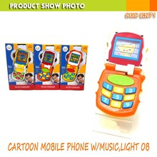 ABS Safe Material Plastic Baby Mobile Phone Toys With Music Light