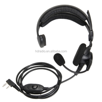 Wired noise canceling bone conduction call center headset for walkie talkie