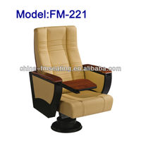 FM-221 Durable leather cover conference room chair with hiding table