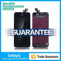 Genuine gold spare parts and touch display digitizer lcd screen for iphone 5