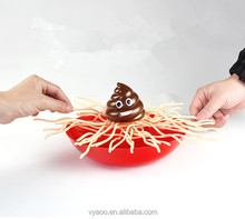 Multi-person interactive split noodles desktop game shit to the bowl to toys