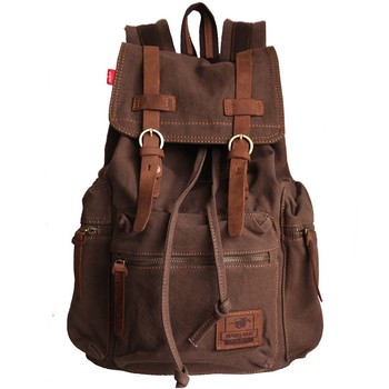 Vintage Canvas Backpack Rucksack mountaineering book backpack school backpack