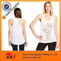 best-selling women twisted back graphic 100 cotton tank top