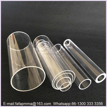 Clear Transparent Round Hollow Acrylic Tube With end Caps