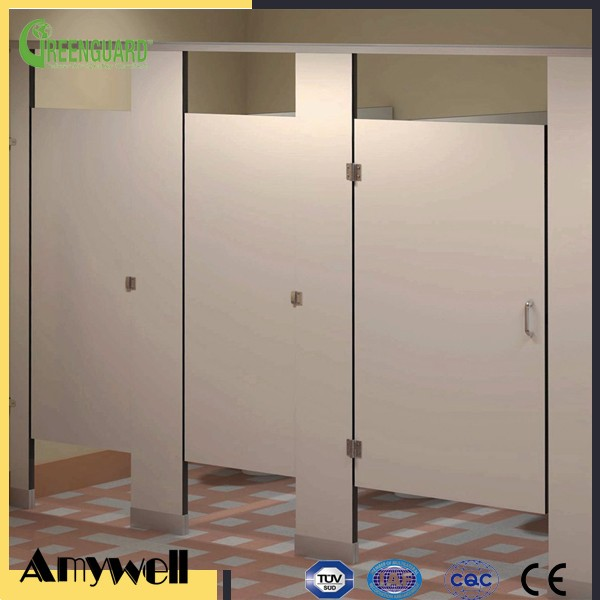 Amywell factory customized cheap phenolic resin compact HPL cubicle toilet partitions